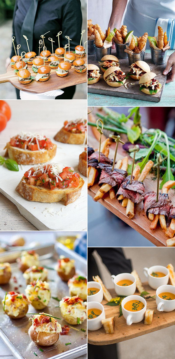 delicious wedding finger food ideas