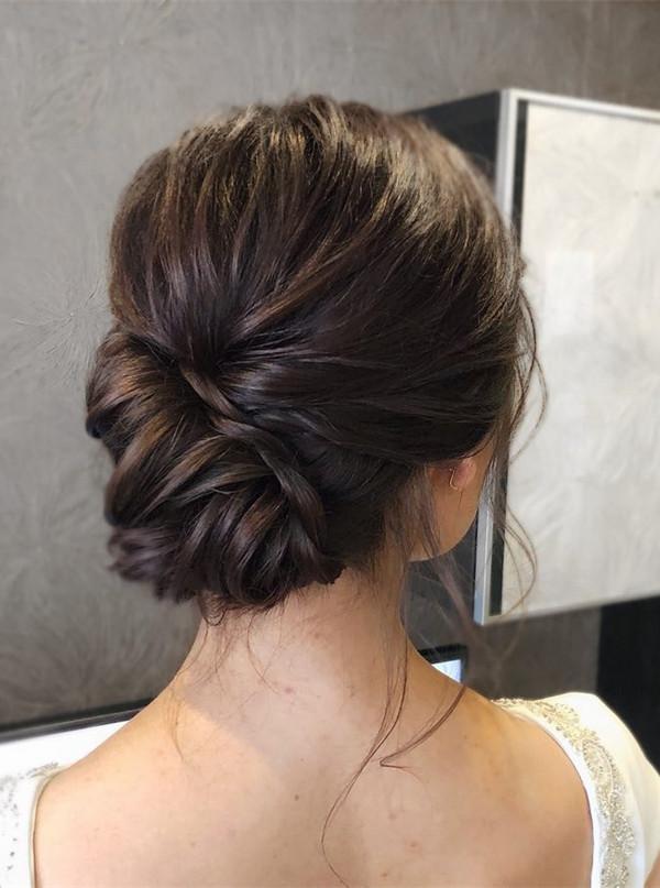 elegant classic updo wedding hairstyle