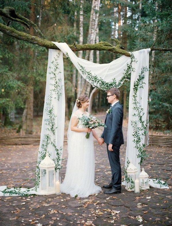 elegant simple outdoor wedding backdrop ideas