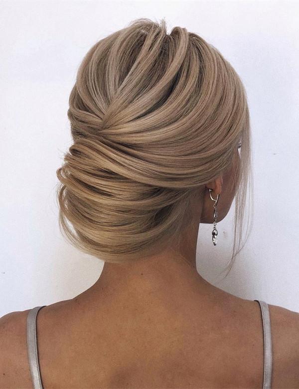 elegant updo bridal wedding hairstyle