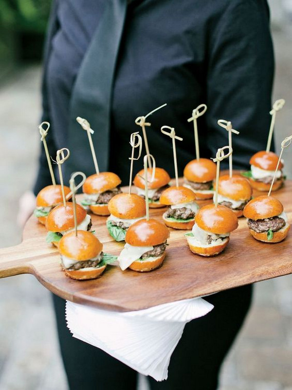 mini hamburgers wedding food ideas