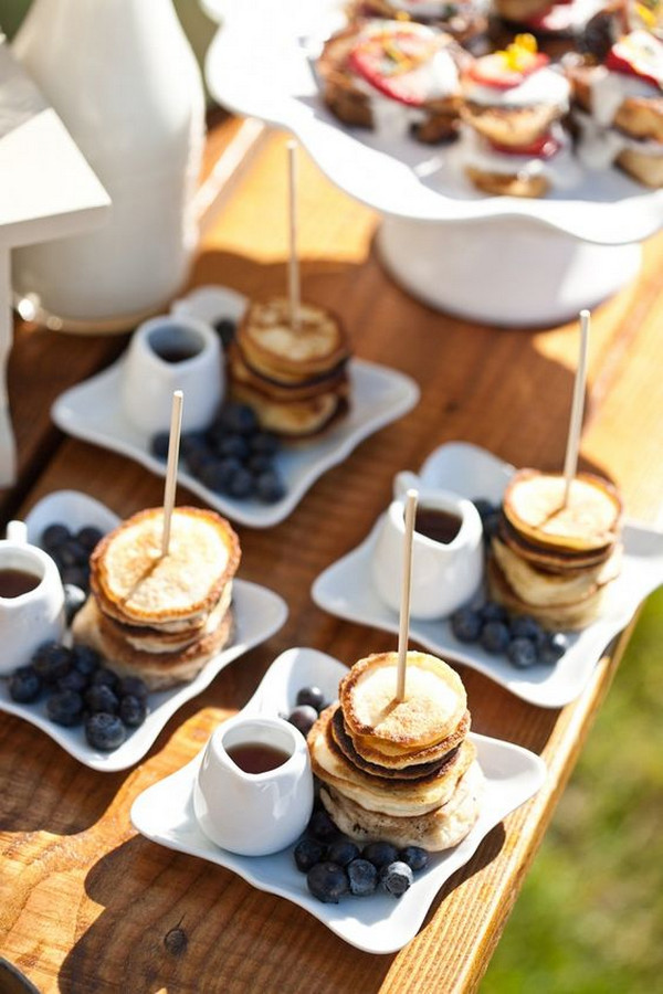 mini pancakes wedding food ideas