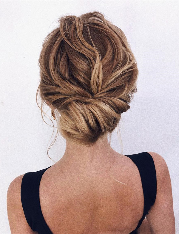 pretty updo wedding hairstyle