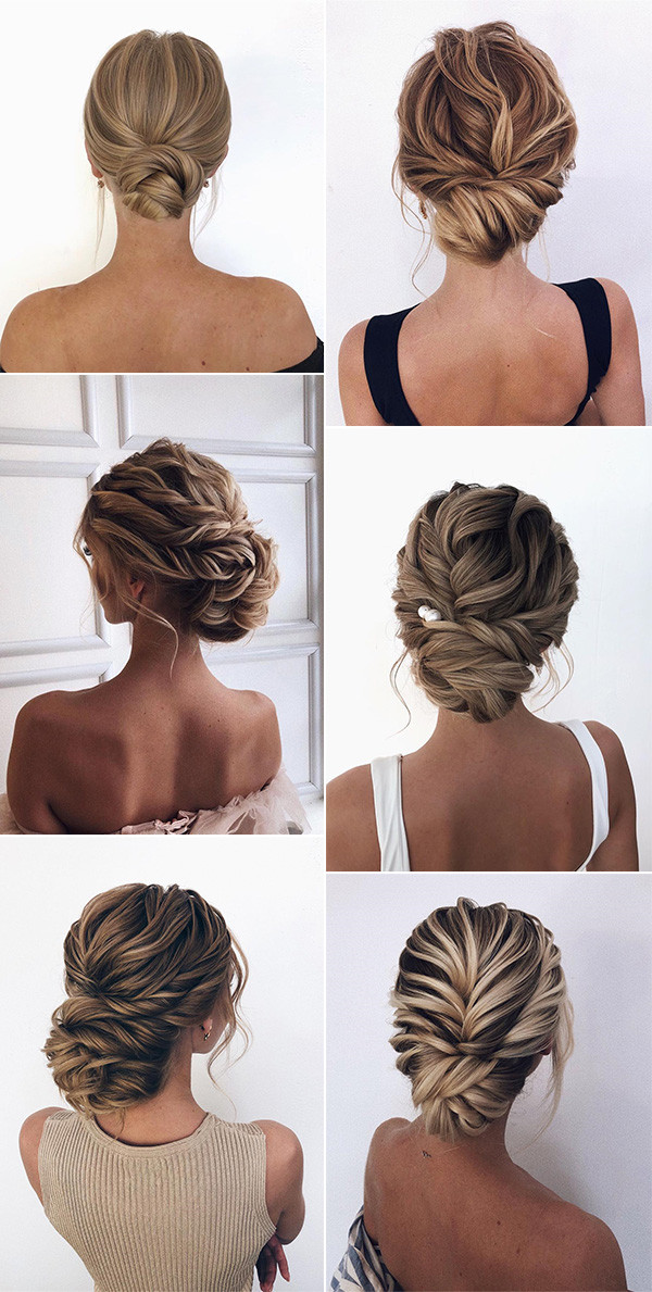 romantic updo bridal wedding hairstyles for 2020