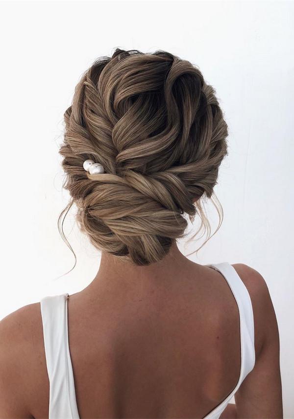 romantic updo wedding hairstyle