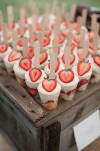 strawberry wedding finger dessert ideas