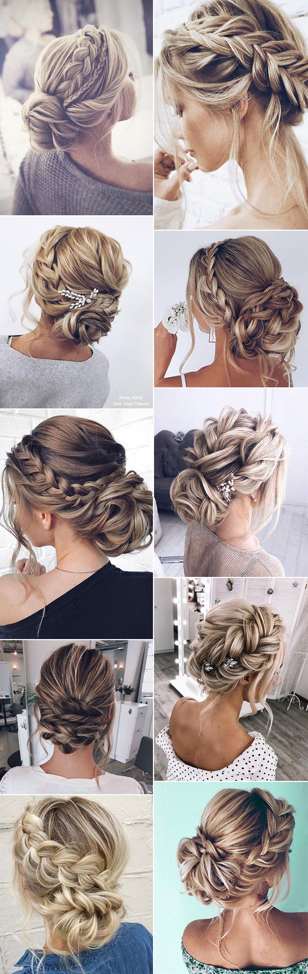 stunning braided updo wedding hairstyles