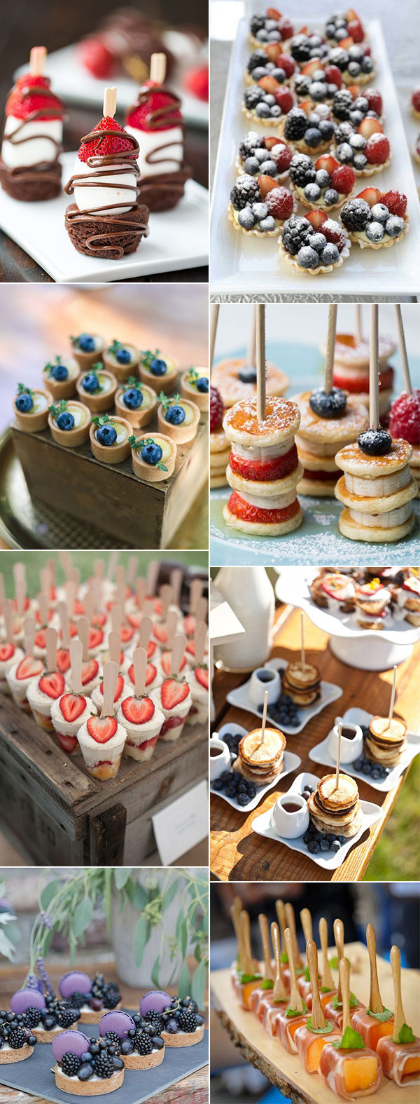 sweet mini dessert for wedding reception ideas