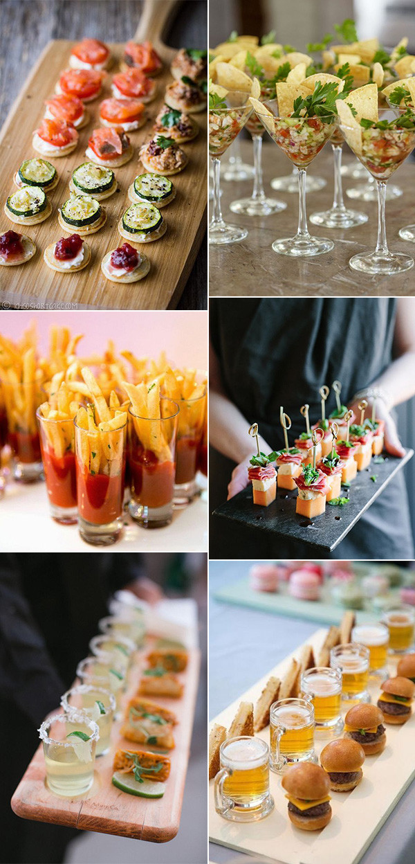trending wedding finger food ideas for reception