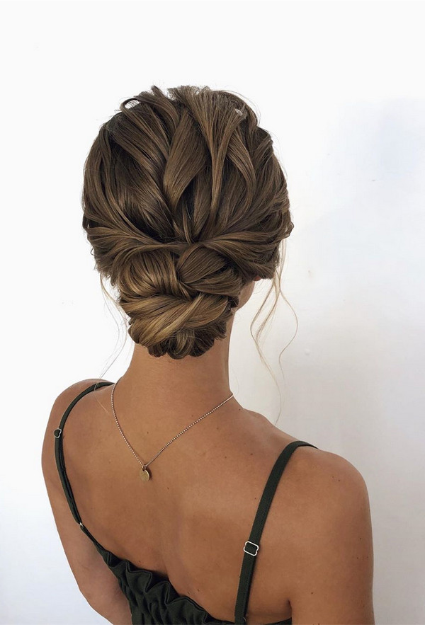 twisted updo wedding hairstyle
