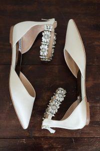 Badgley Mischka sparkly bridal wedding flats