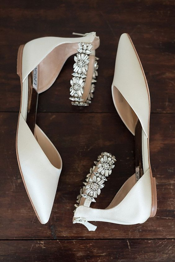 Badgley Mischka sparkly bridal wedding flats