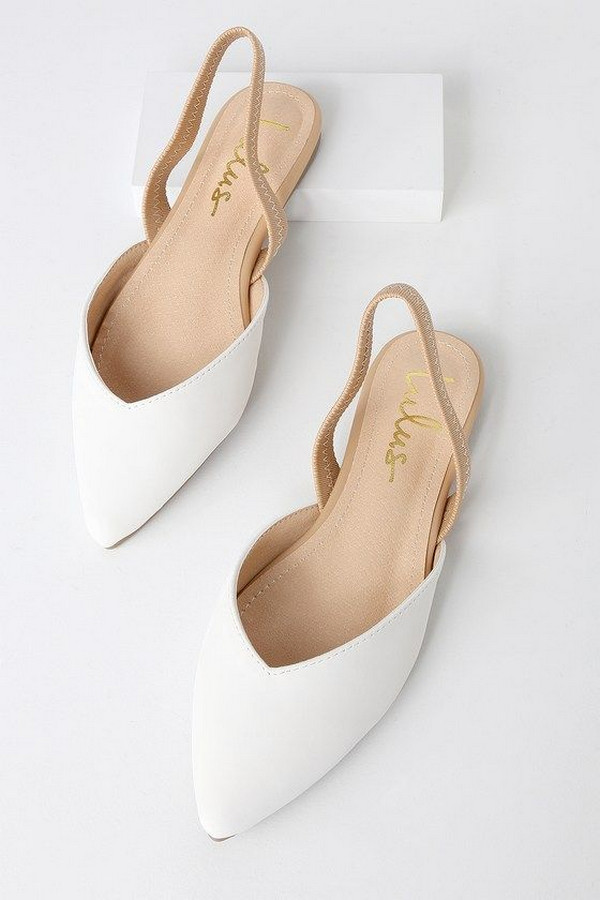 Lulus simple nude wedding flats