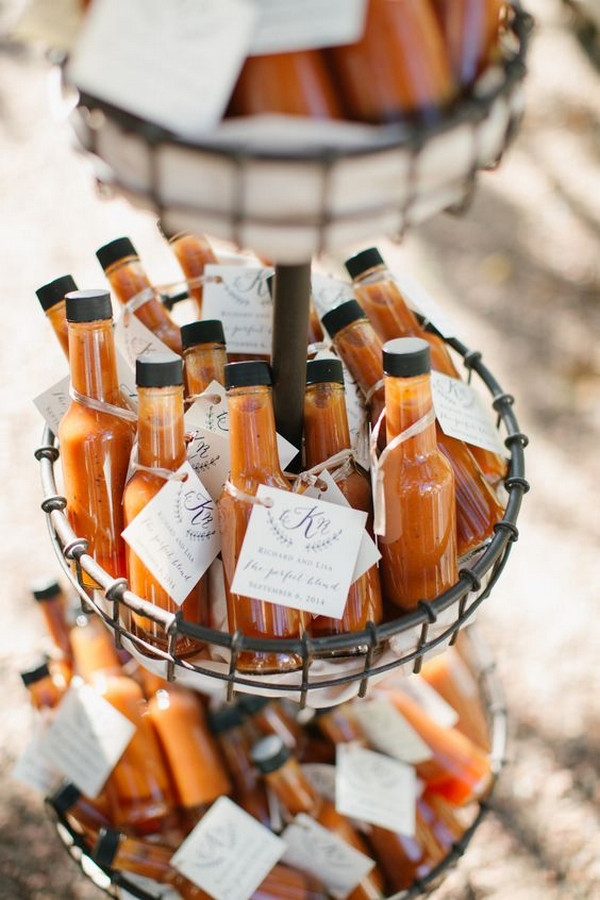 Mexican themed hot sauce wedding favor ideas