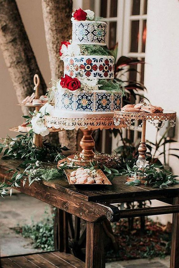 Mexican themed wedding cake ideas