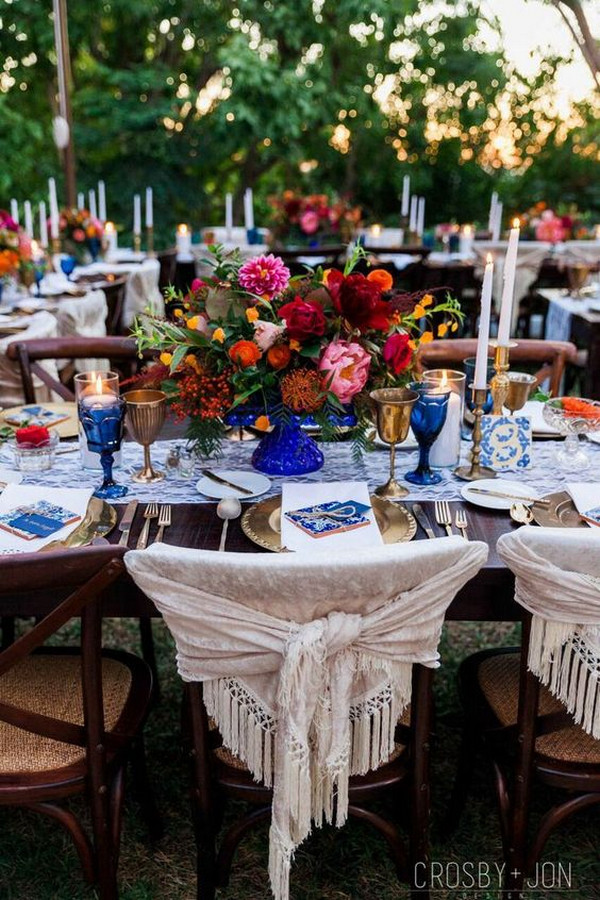 Mexican themed wedding reception decoration ideas