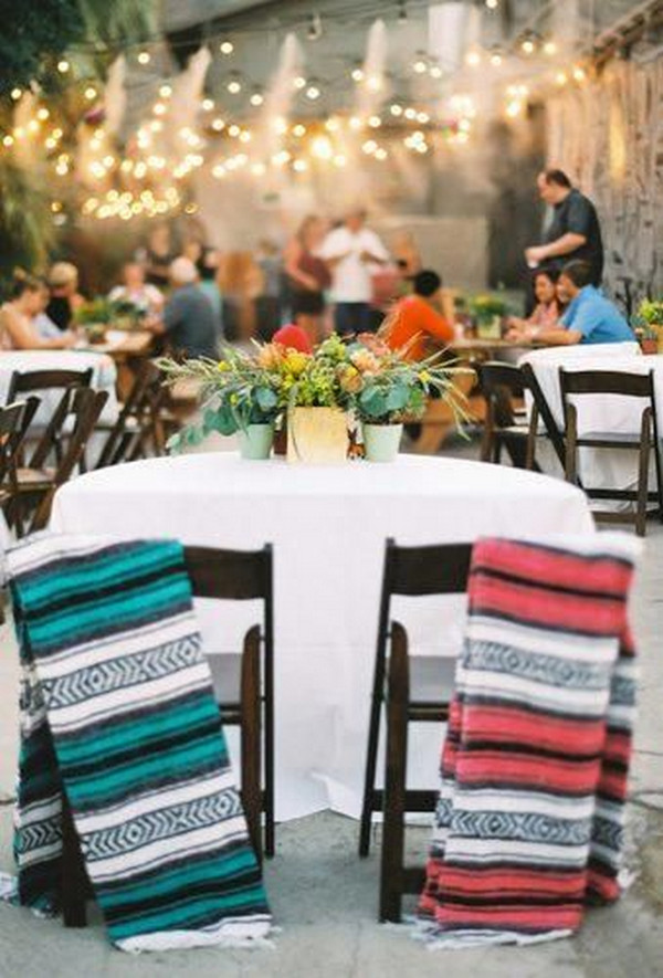 Mexican themed wedding reception ideas