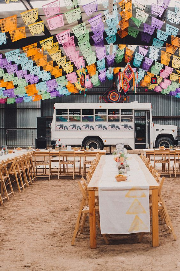 Mexican wedding reception decoration ideas