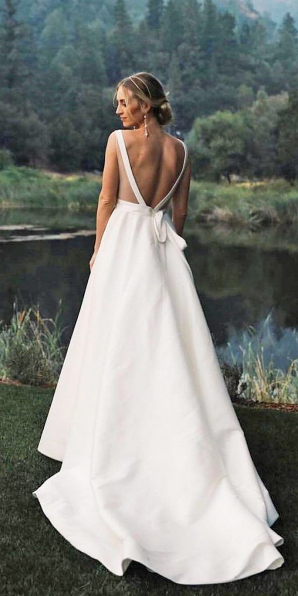 Satin Wedding Dresses For Minimalist Brides