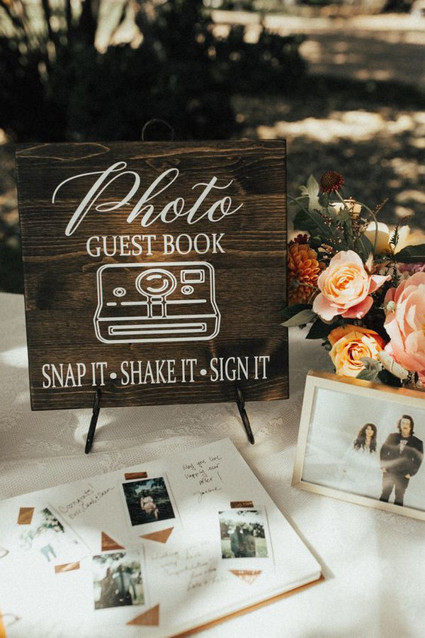 boho chic wedding guest book ideas