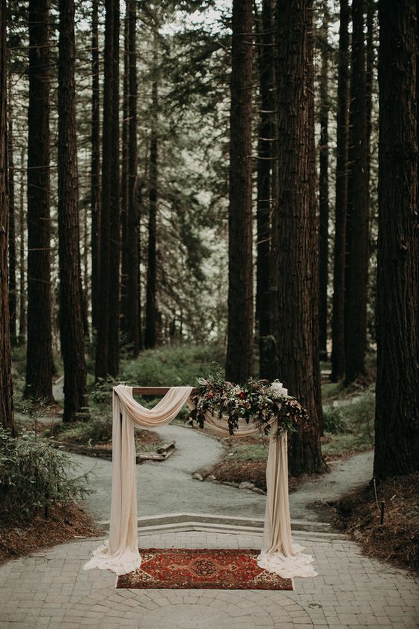 boho forest wedding arch ideas