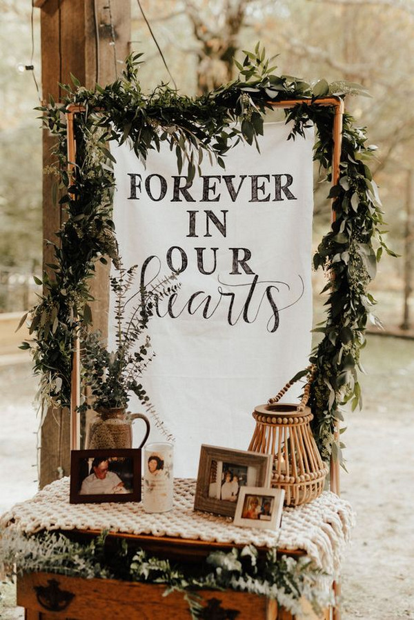 boho memorial wedding table ideas