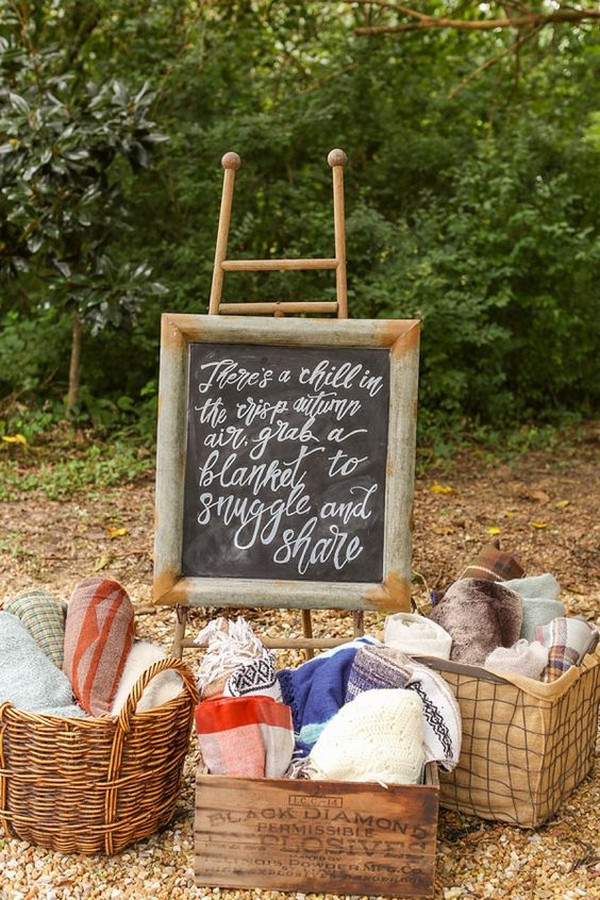 boho wedding blankets display ideas