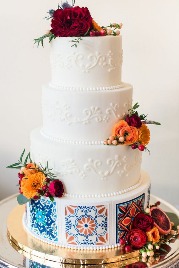 bright and colorful wedding cake ideas