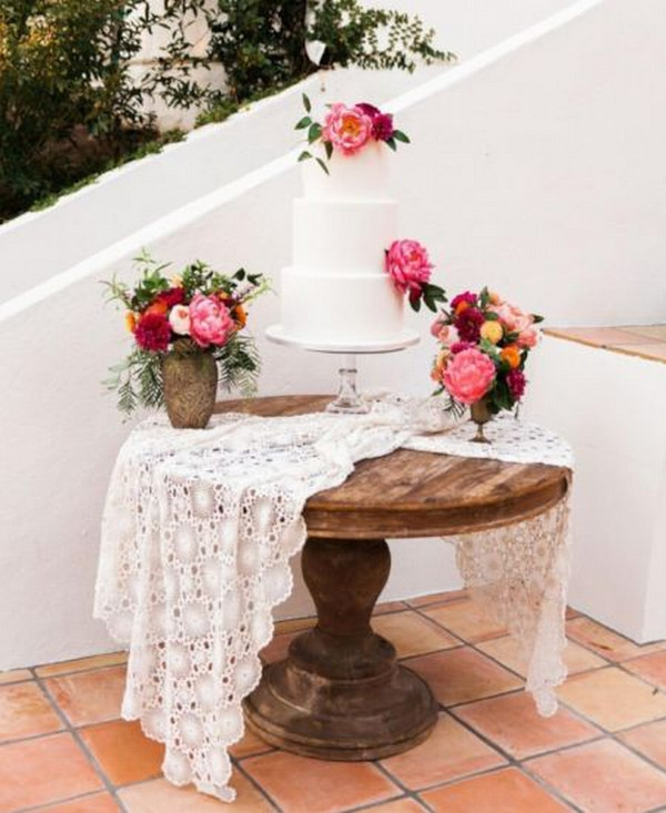 bright floral wedding cake ideas