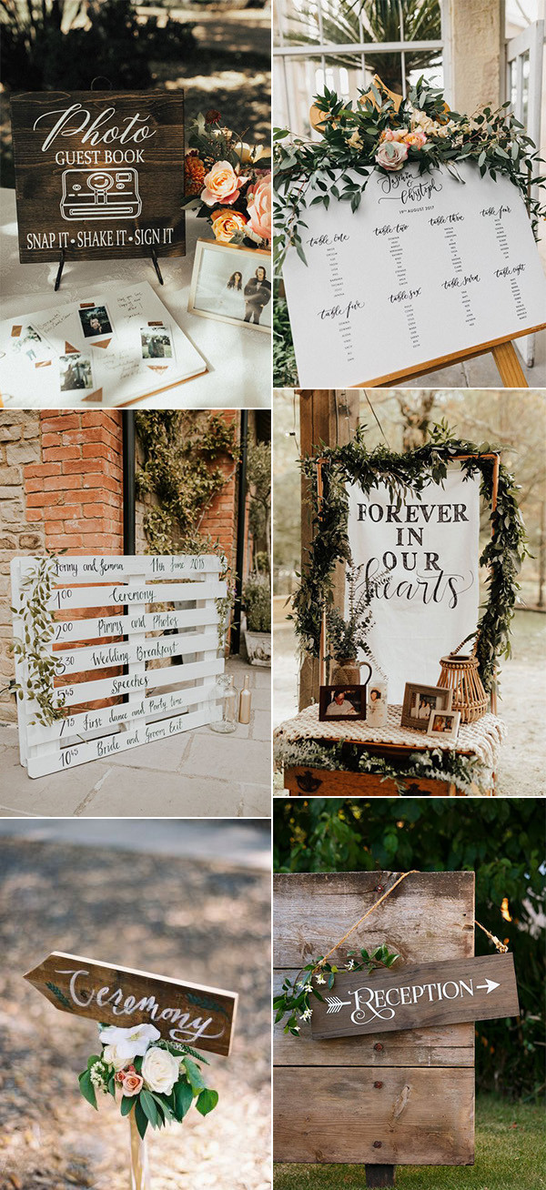 chic bohemian wedding sign ideas for 2020