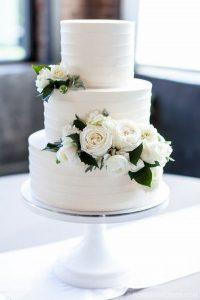 elegant buttercream wedding cake