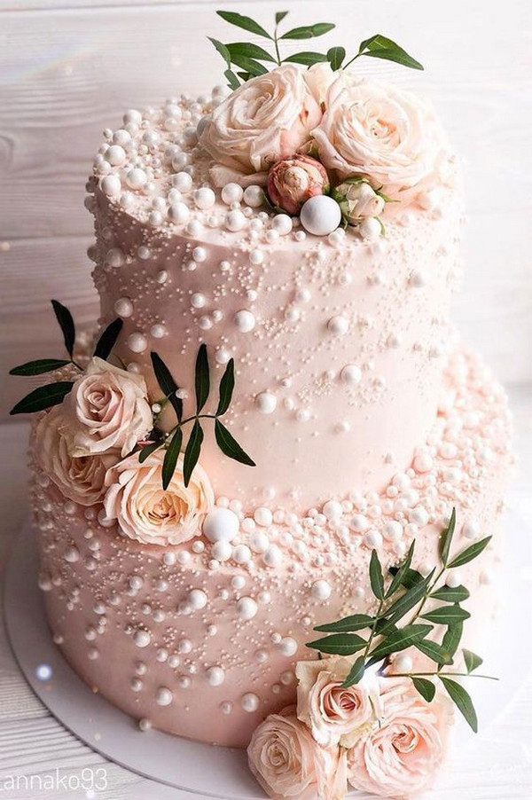 gorgeous blush pink wedding cake