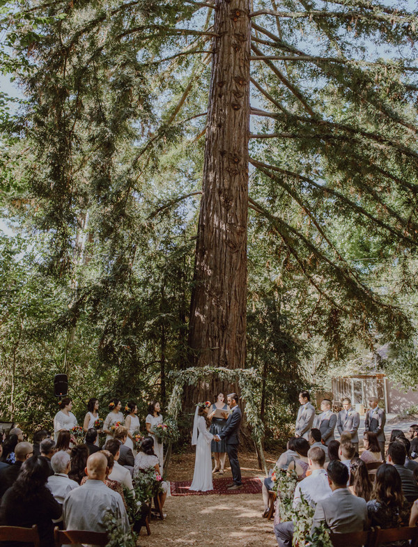 intimate forest wedding ceremony ideas