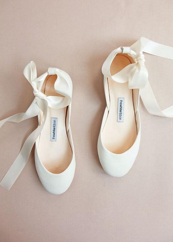 ivory ballet wedding flats