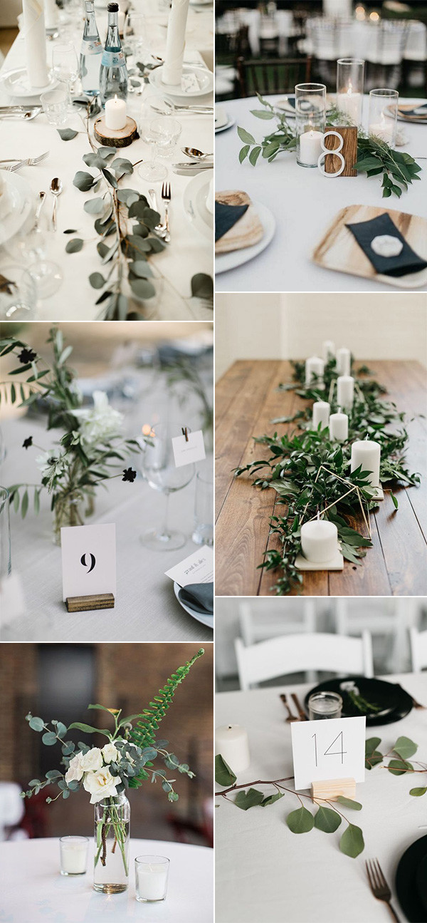 minimalist chic wedding centerpiece ideas for 2020