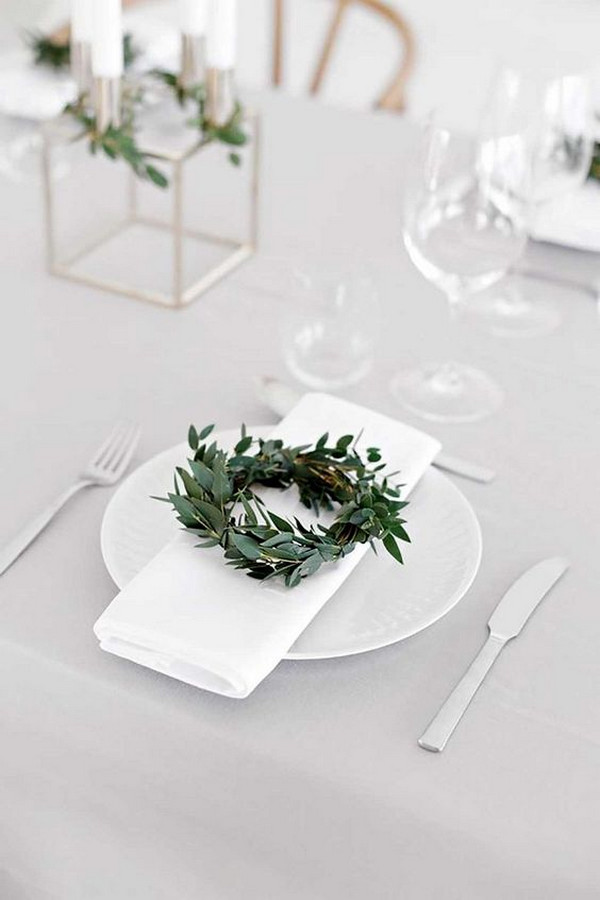 minimalist simple wedding reception ideas