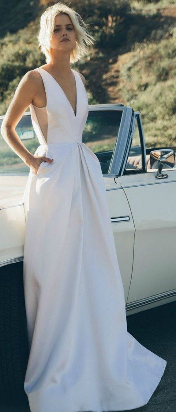 modern chic wedding dress for minimalist brides