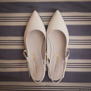 nude simple elegant wedding flats