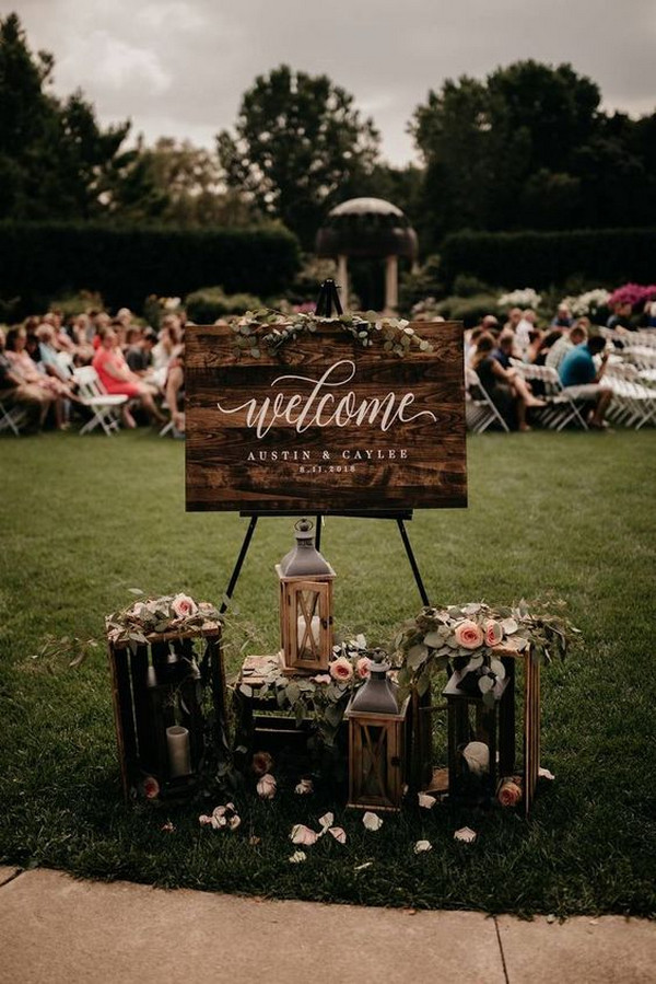 outdoor wedding welcome sign ideas