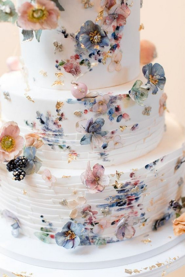 petal wedding cake for spring summer 2020