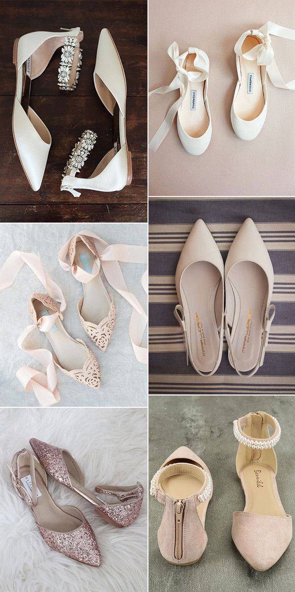 pretty and comfortable wedding bridal flats