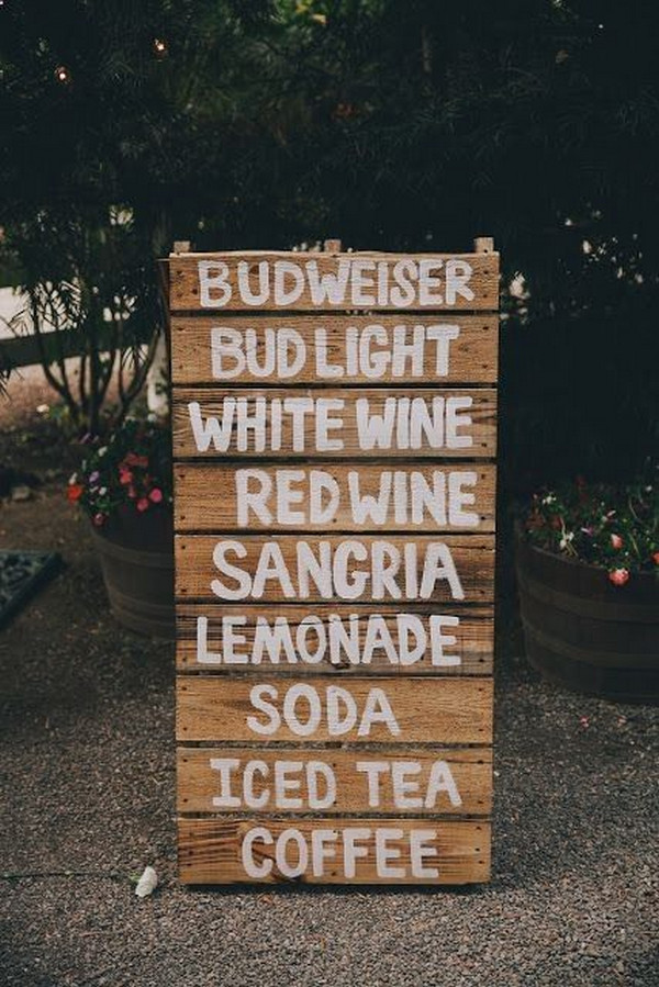 rustic diy wedding sign ideas