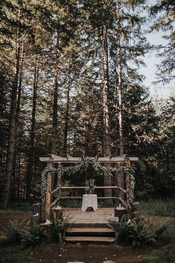 rustic woodland forest wedding ideas