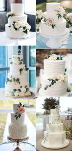 simple elegant wedding cakes for spring 2020