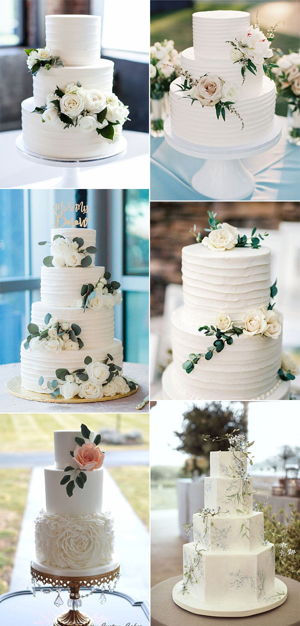 simple elegant wedding cakes for spring 2020