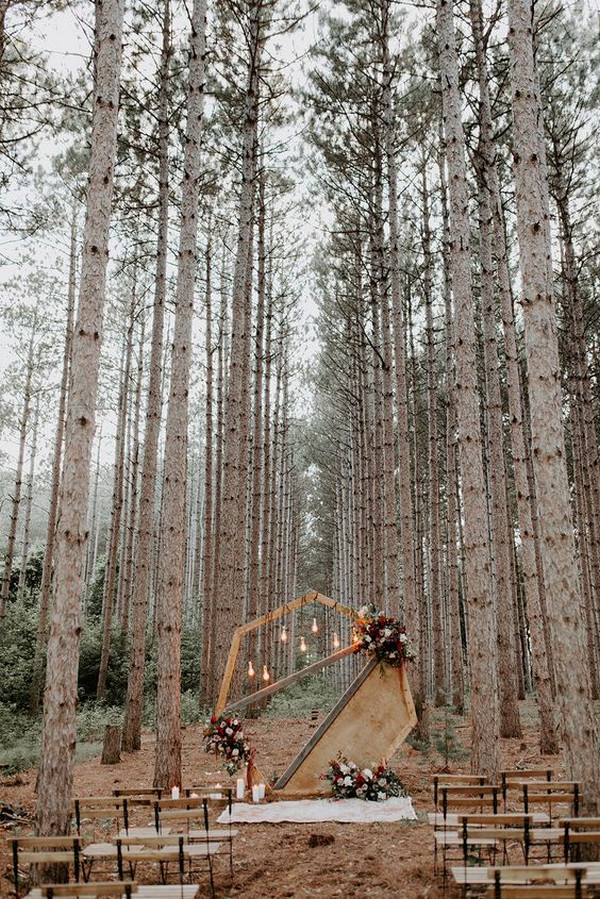 small forest wedding ceremony ideas