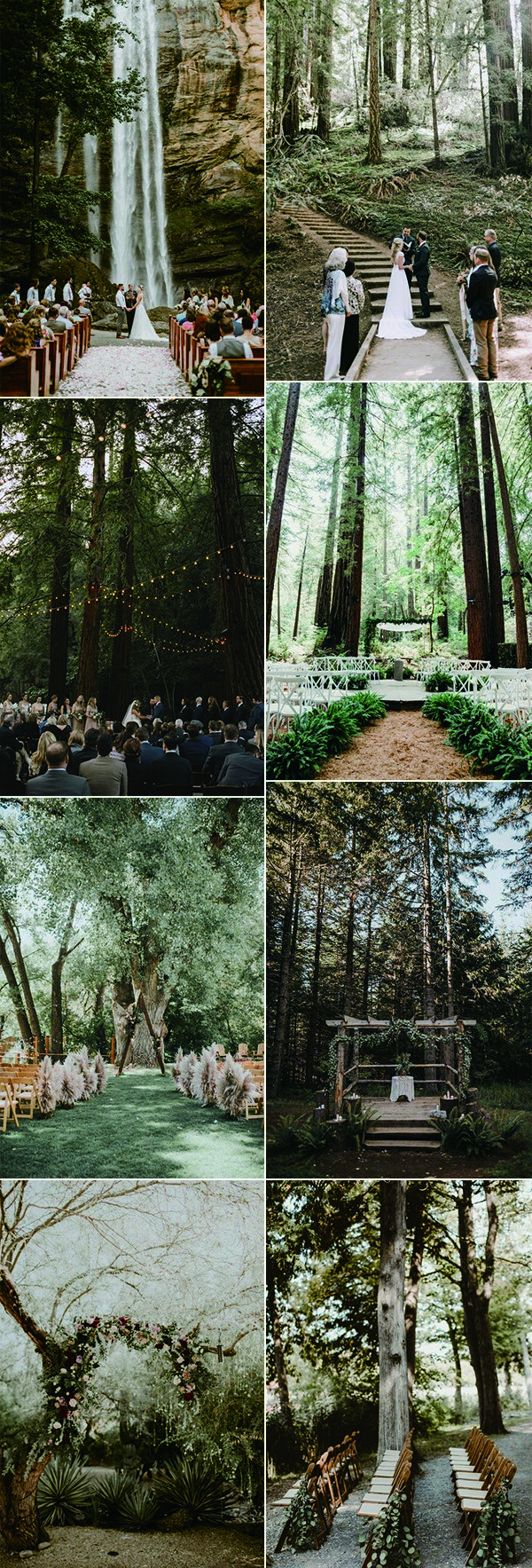 trending forest wedding ceremony decoration ideas
