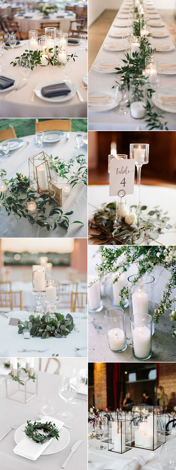 trending minimalist wedding reception centerpiece ideas