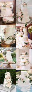 trending pretty pink floral wedding cakes for 2020