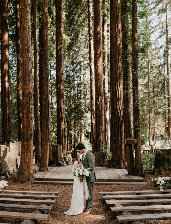 woodsy forest wedding ceremony ideas